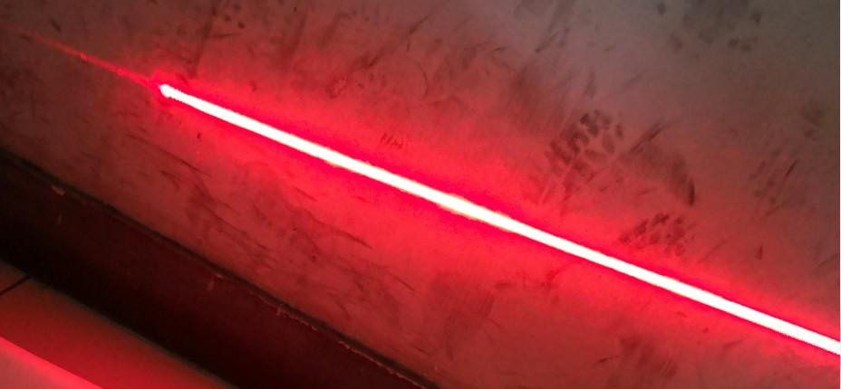 laser light forklift