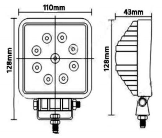 Spot-led-27w-110v-sizes