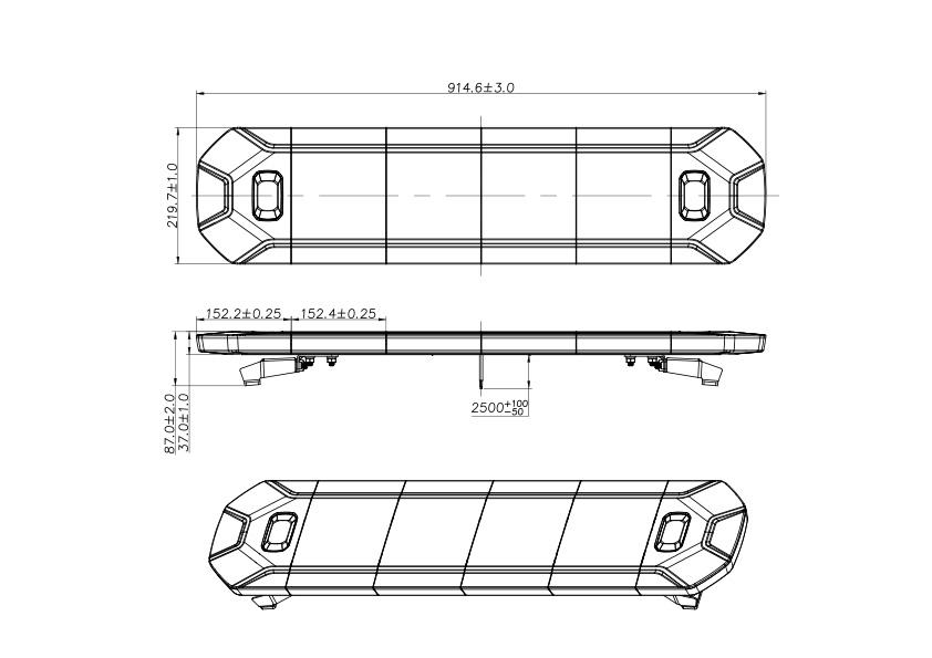 Barre de LED 152cm Multifonctions