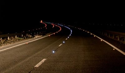 Solar safety road by night 3