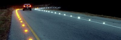 Solar safety road by night 6